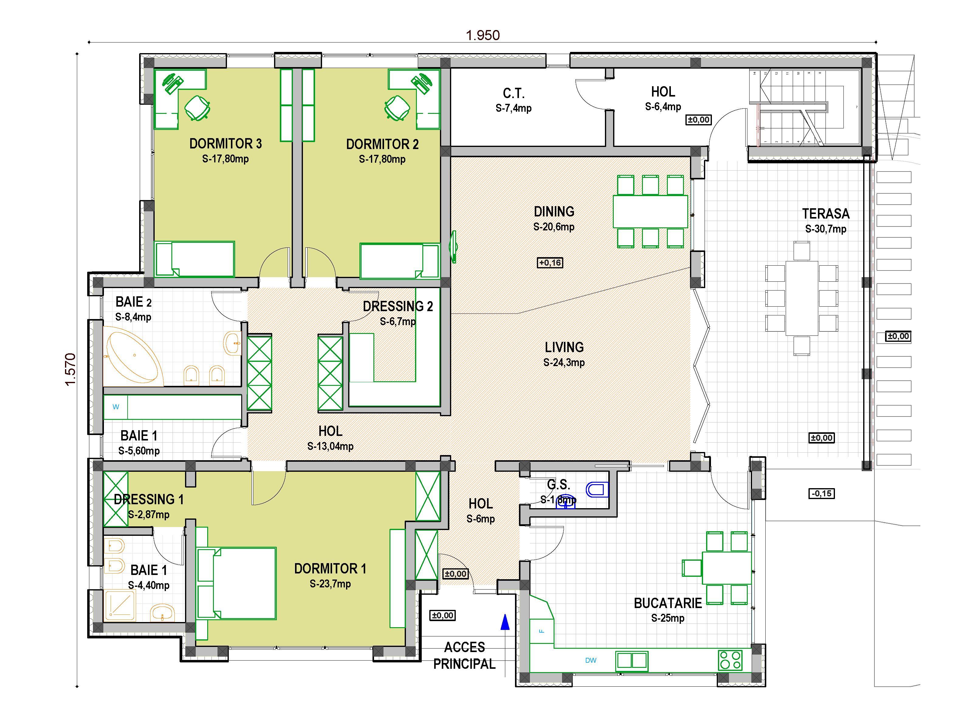 Proiect casa parter casa miruna casemania for Proiecte case parter